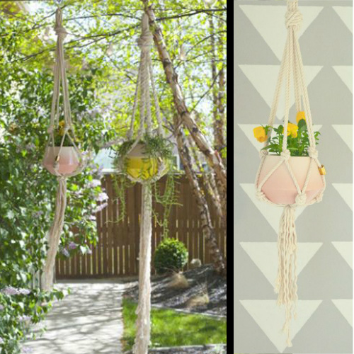 73% off Macrame Plant Hanger : Only $5.39 + Free S/H