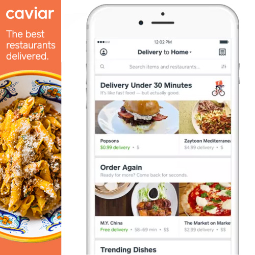Caviar Coupon : $5 off $25 or more + Free Delivery