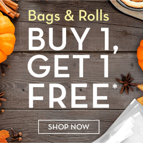 FoodSaver Bags and Rolls : Buy 1, Get 1 Free + 20% off + Free S/H