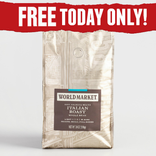 Cost Plus World Market Coupon : Free 12-OZ Bag of Coffee