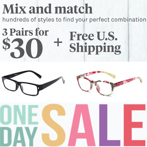 1fc8f9f0cbcf Up to 60% off Reading Glasses : 3 for $30 + Free S/H