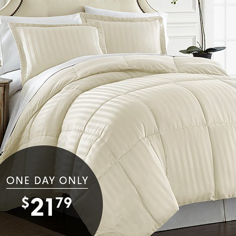 Up to 85% off Reversible Down Alternative Comforter Sets : Only $21.79 any size