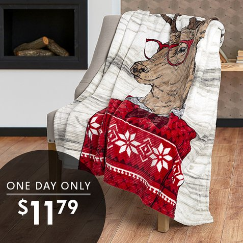 Up to 66% off Seasonal Throws : Only $11.79 All Styles