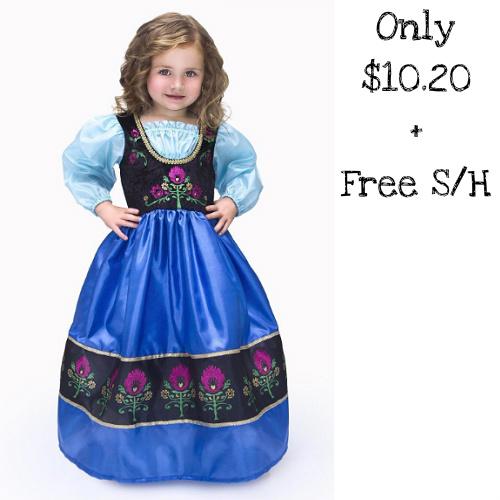 66% off Girls' Scandinavian Princess Costume : Only $10.20 + Free S/H