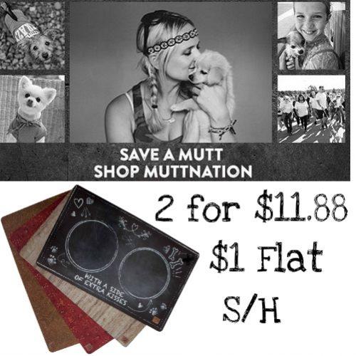 50% off MuttNation Pet Food Mats by Miranda Lambert : 2 for $11.88 + $1 Flat S/H