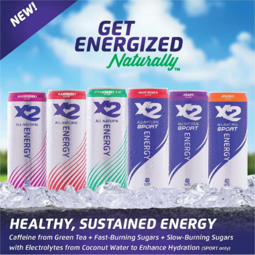 Buy 1, Get 1 Free X2 Energy Drinks : 24 Cans for $25.99