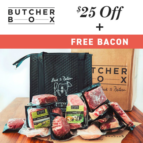 ButcherBox : Free Bacon + $25 off + Free S/H