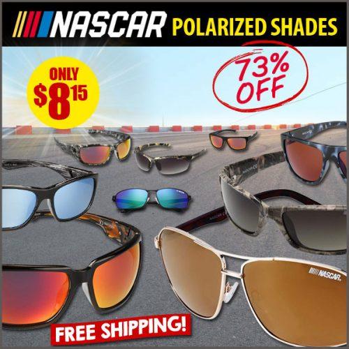 73% off NASCAR Polarized Sunglasses : All Styles $8.15 + Free S/H