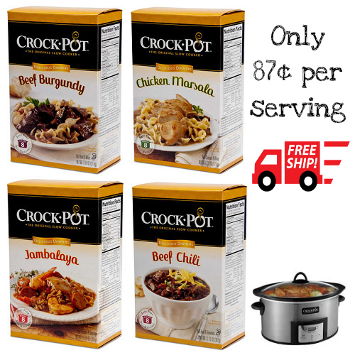 Crock-Pot Meal Kits : Only $6.99 + Free S/H