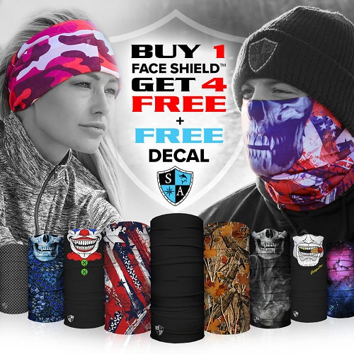 80% off Buy 1, Get 4 Free Face Shields : 5 for $24.99 Shipped