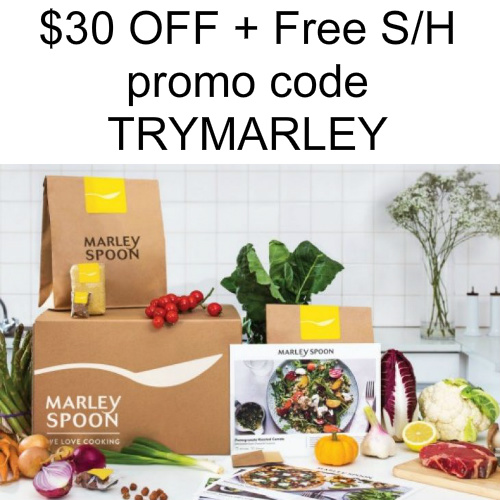 Marley Spoon Coupon : $30 off + Free Shipping