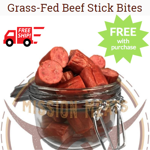 Mission Meats Coupon : Free Grass-Fed Beef Stick Bites ($7.99 value) + Free S/H on any order
