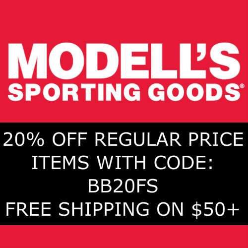 Modell's Coupon : 20% off Regular Price Items + Free S/H on $50