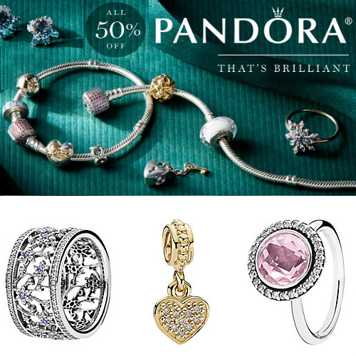 50% off Pandora Jewelry Clearance : Items starting at $11.99