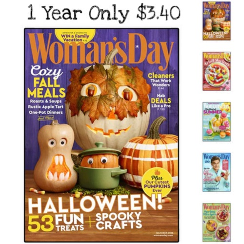69% off 1-YR Woman's Day Magazine Subscription : Only $3.40