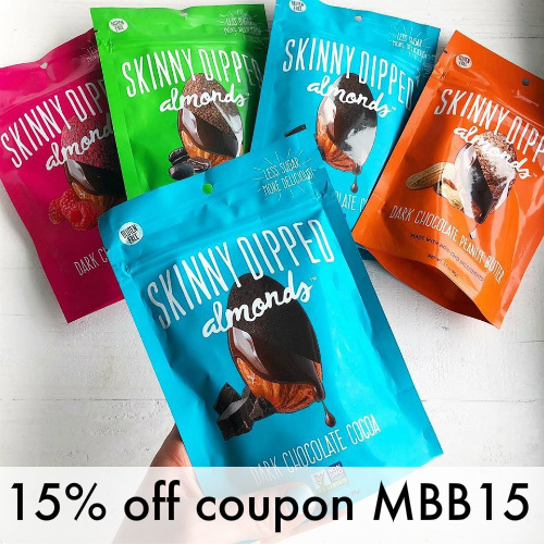 Skinny Dipped Almonds Coupon : 15% off any order