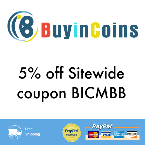 BuyinCoins Coupon : 5% off any order + Free S/H