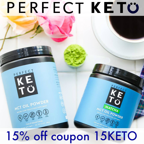 Perfect Keto Coupon : 15% off Most items + Free S/H