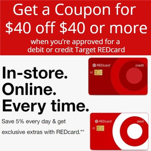 Target REDCard promo