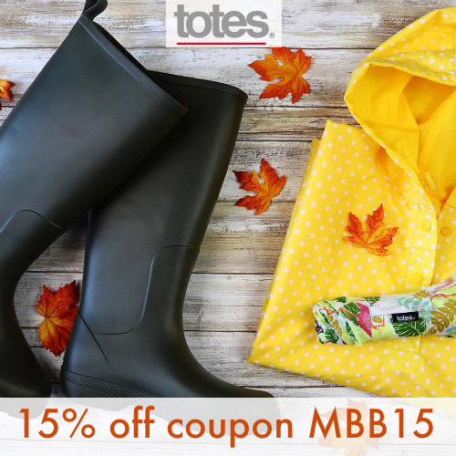 Totes Coupon : 15% off any order