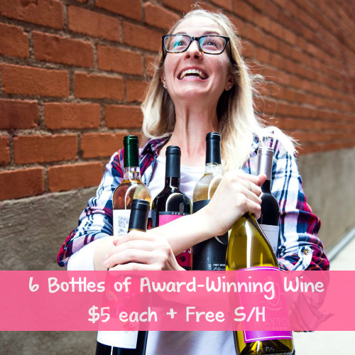 6 Award-Winning Wines : Only $5 each + Free S/H