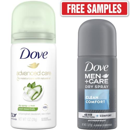 dove antiperspirant sample