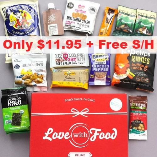 $8 off Love With Food Deluxe Snack Box