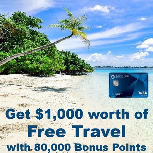 sapphire preferred bonus points