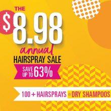 $8.98 hairspray sale