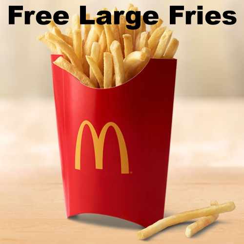 mcdonalds free french fries