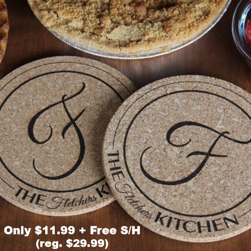 Personalized Cork Hot Pads