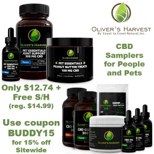 olivers harvest coupon cbd sampler
