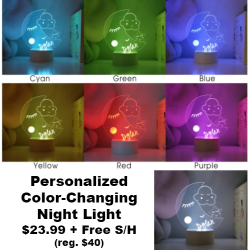 Personalized Color-Changing Night Light