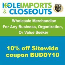 Kole Imports & Closeouts Coupon