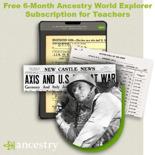 Ancestry.com : Free World Explorer Subscription for Teachers