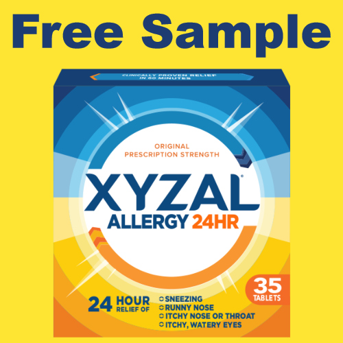 Xyzal 24HR Allergy Relief Free Sample