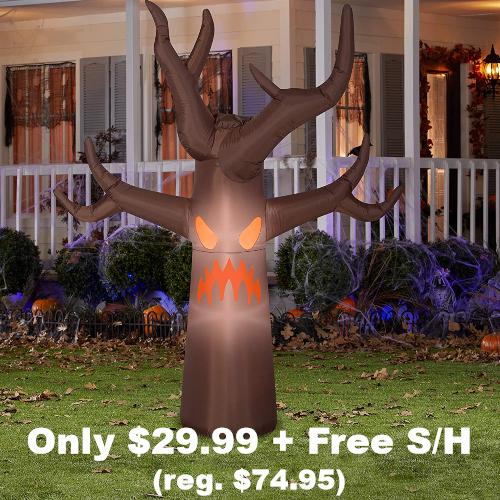 airblown spooky tree