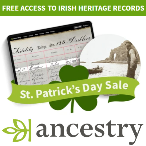 Ancestry.com Free Access To Irish Records