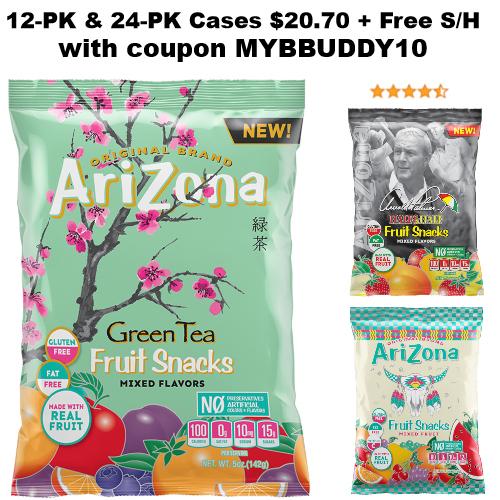 arizona tea brand fruit snacks discount