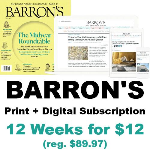 barrons subscription discount