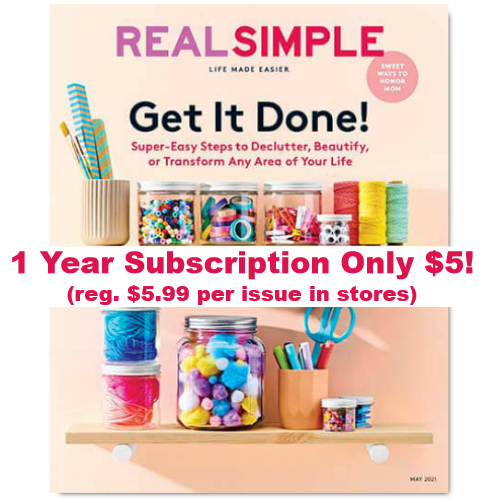 cheapest real simple magazine subscription