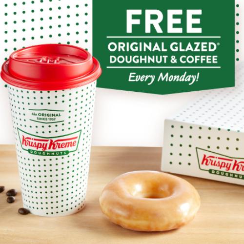 krispy kreme free donut and coffee