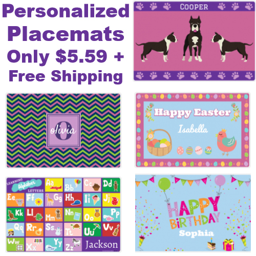 Personalized Placemats Sale