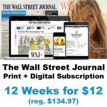 the wall street journal discount