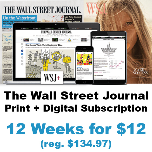 the wall street journal discount