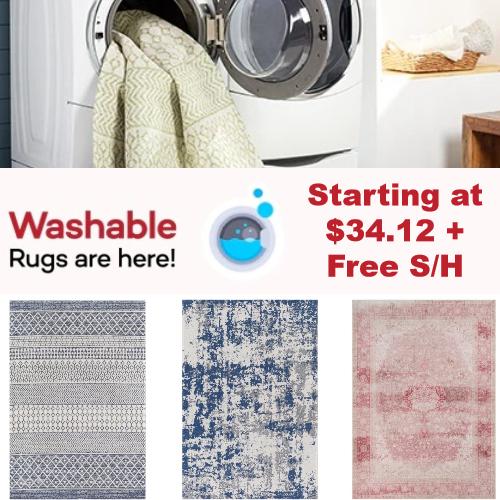 Washable Area Rugs on Sale