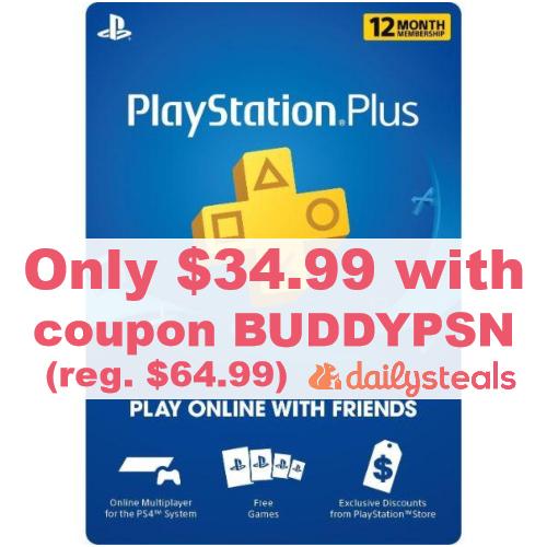 12-Month Playstation Plus Membership Card