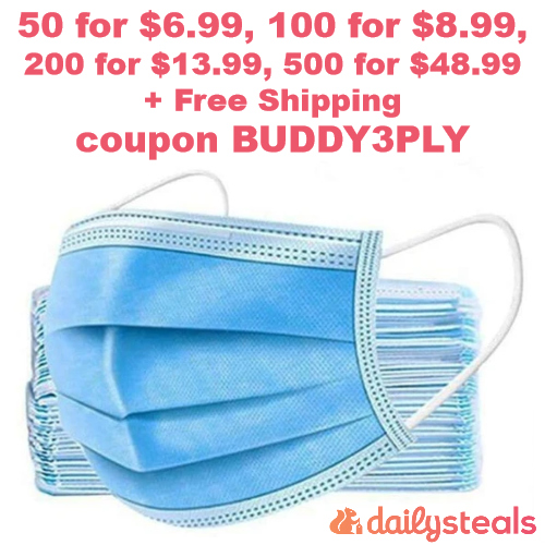 3-ply face mask deal