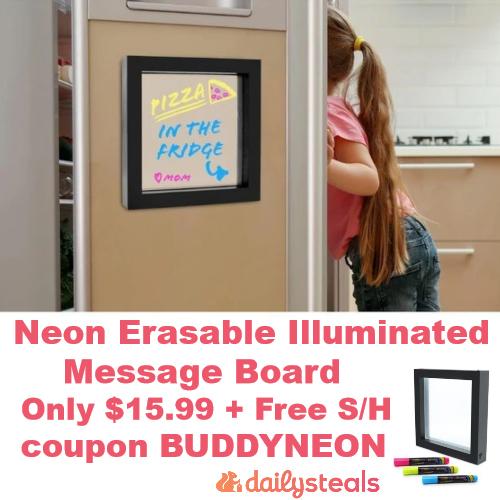 Neon Erasable Illuminated Message Board