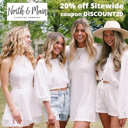North & Main Clothing Company Coupon